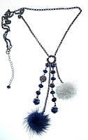 Ожерелье на длинной цепочке.