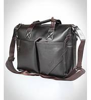 Портфель мужской кожаный коричневый, фото 1
