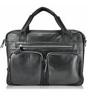 Портфель мужской кожаный черный, фото 1