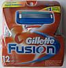 Картриджі Gillette Fusion, 12 Cartridges