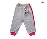 """Спортивные штаны """"Зебра"""" для девочки. 6, 18 мес, фото 1"""
