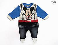 Человечек Mickey Mouse для мальчика. 0-3;  3-6 мес