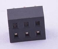 PBD2-6 (KLS1-208B-4.3-2-6-S) (гнезда на плату, 2х3, 2,00мм)