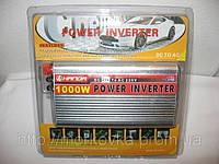 Автомобильный преобразователь 12V-220V 1000W, авто инвертор напряжения