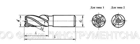 ГОСТ 17025-71. Фрезы концевые с цилиндрическим хвостовиком