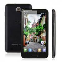 "Смартфон THL W6 экран 5,3"" дюйма 2-х ядерная платформа MTK6577 на Android 4,черный +стилус и чехол!"