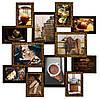 Мультирамка «Путешествие» шоколад (12 фотографий)