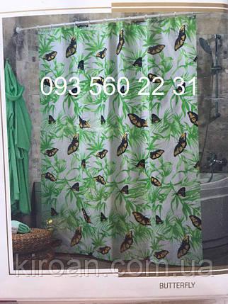"""Тканевая штора для ванной Миранда """"Бабочки"""", фото 2"""