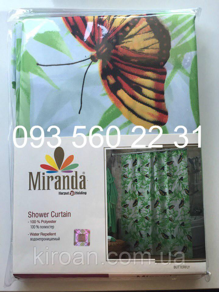 """Тканевая штора для ванной Миранда """"Бабочки"""""""