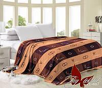 Плед покрывало  на кровать, шоколадный, луи витон, микрофибра,Louis Vuitton