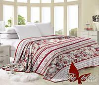 Плед на кровать, чайная роза, микрофибра