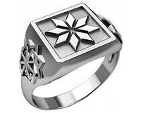 Кольцо серебряное Восьмилепестковая звезда и Молвинец 30249