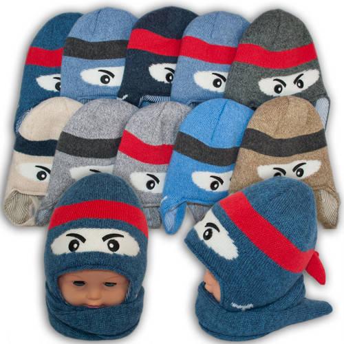 Детский комплект - шапка и шарф для мальчика, Amal (Польша), утеплитель Iso Soft, Am0003