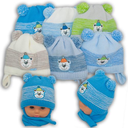 Детский комплект - шапка и шарф для мальчика, Grans (Польша), утеплитель Softi Term, A740ST