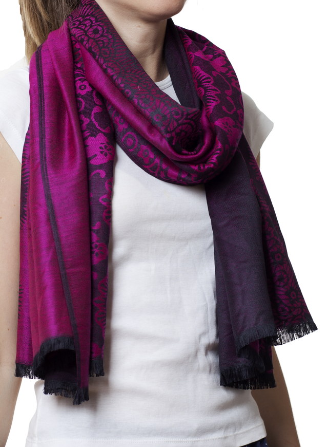 Палантин с узором фиолетовый (83004) 1
