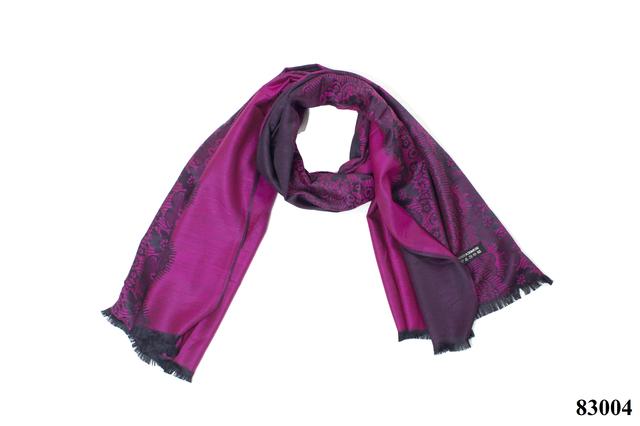 Палантин с узором фиолетовый (83004) 3