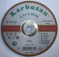 Абразивный шлифовальный круг  по граниту, зачистной диск по бетону 230x6,4x22,23 Karbosan C24 S BF80