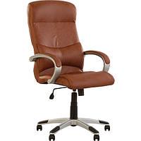 Кресло офисное Новый Стиль York CH ECO-21 коричневое