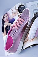 Розовые женские кеды  38