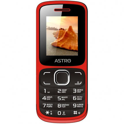 Мобильный телефон ASTRO A177 Red-Black, фото 2