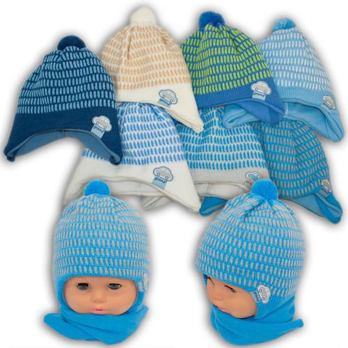 Детский комплект - шапка и шарф для мальчика, Grans (Польша), утеплитель Softi Term, AM86ST