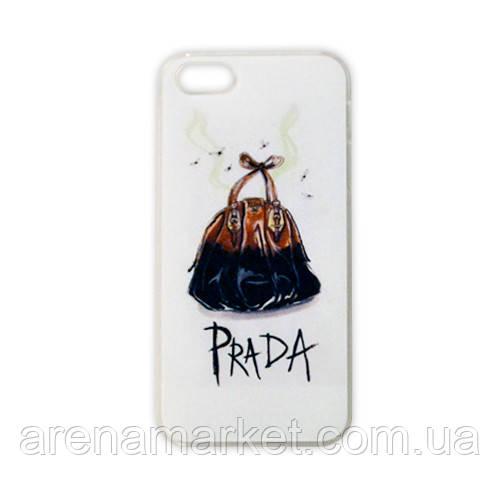 Модельний чохол для iPhone 5/5S - PRADA