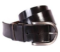 Стильный кожаный джинсовый ремень черный