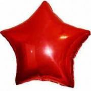 Шар фольгированный звезда  44 см красная