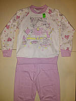 Пижама на девочку, рост 110 см