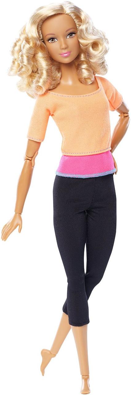 Барби Двигайся как я Фитнес, Йога в оранжевом топе Barbie Made to Move Doll, Orange Top