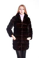 "Шуба из норки цвета ""горький шоколад""(поперечка) Mink fur coat, фото 1"