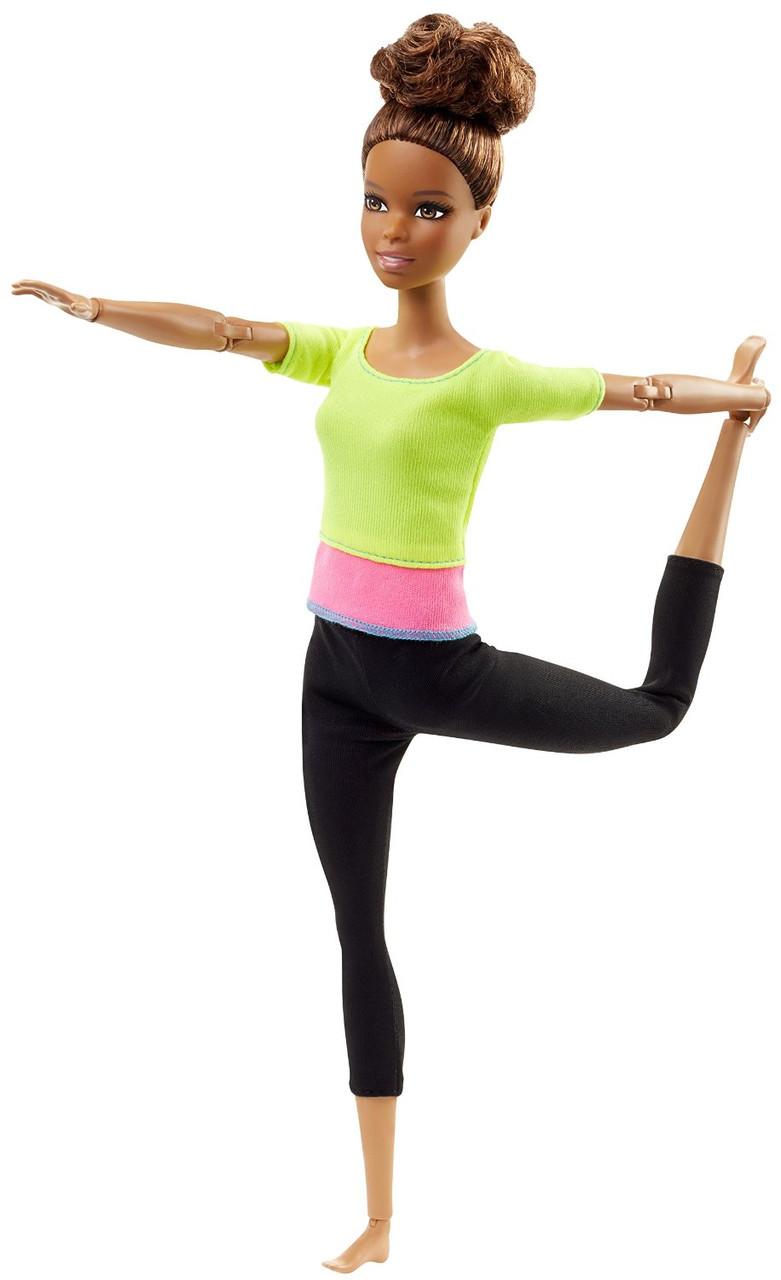 Кукла Барби Двигайся как я Фитнес Йога в оранжевом топе Barbie Made to Move Barbie Doll, Yellow Top