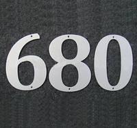 Номер металический