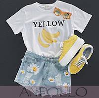 Летняя женская футболка с принтом
