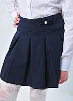 Юбка школьная для девочки, бантик, черная, тиар, размер 122, 128,134