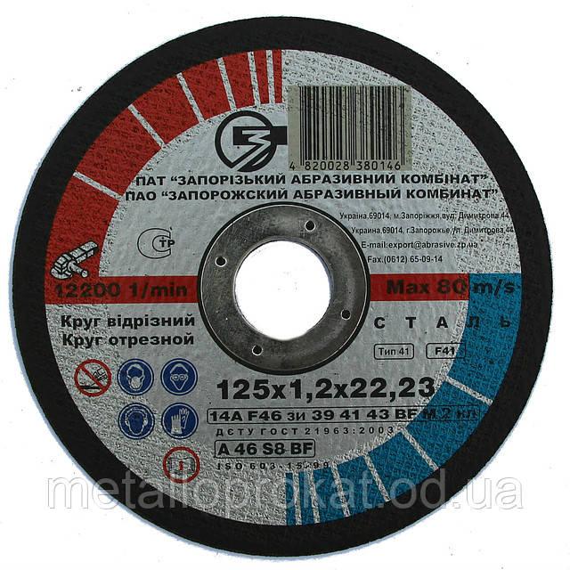 Відрізний круг ЗАК-125х1,2мм