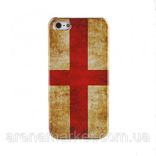 Чехол для iPhone 5/5S флаг ретро стиль - Крест Святого Георгия
