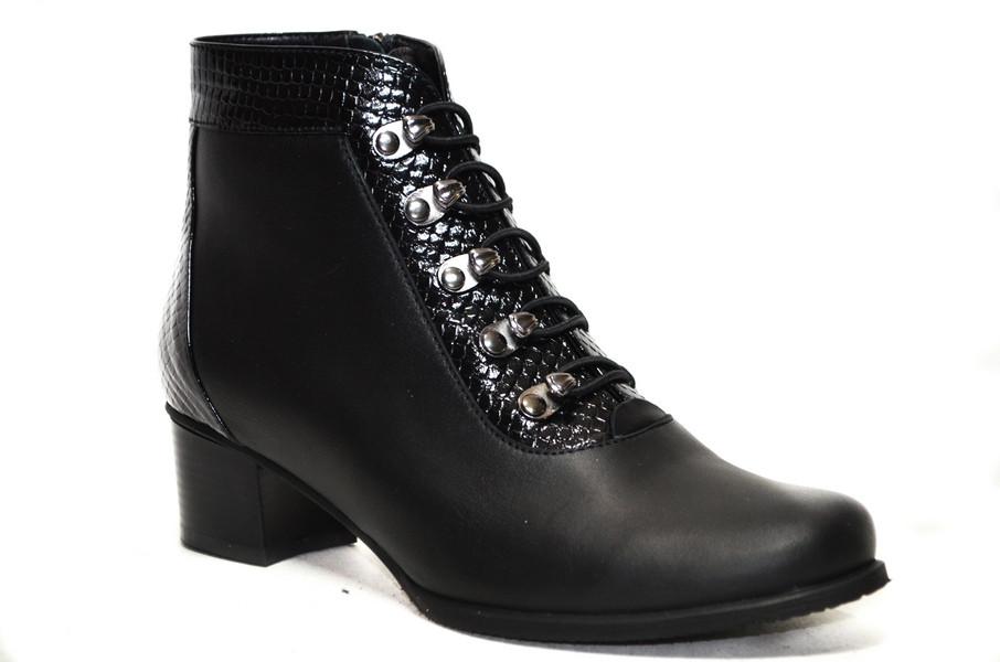 Женские ботинки (арт.В166.4002 кожа)