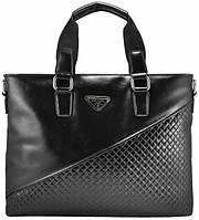 Портфель мужской Prada кожаный черный