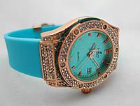 Женские часы HUBLOT - Geneve cristal, глубой каучуковый ремешок, кристалы, фото 1