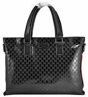 Портфель мужской Gucci Lack кожаный черный , фото 1