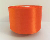 Лента атласная 5 см №144 ярко-оранжевый