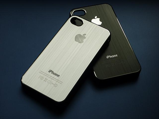 Чехлы для iPhone 4 4S металлические под дизайн телефона