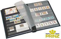 Альбом для марок Prinz - 32 страницы - A4 - чёрные страницы