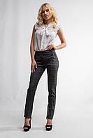 """Женские стильные брюки """"79-364""""(Клетка)"""