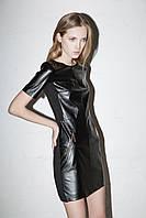 Черное платье из искусственной кожи NIGHT