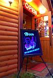 Світлодіодна рекламна дошка Led (30*40 див) + маркер, фото 6