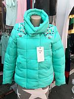 Стеганая куртка со стразами Китай 5 цветов