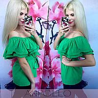 Модная женская блуза с волнами