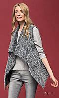 Женская стильная жилетка серого цвета. Модель Soila Zaps, размер М, фото 1